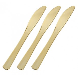 Gold Heavyweight Plastic Knives (24pk)