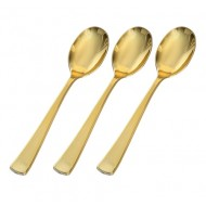 Gold Heavyweight Plastic Spoons (24pk)