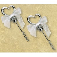 Silver Heart Shaped Corkscrew