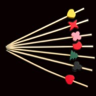 Multi Shapes & Coloured Skewers (100pk)