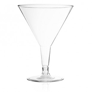 Clear Plastic 6oz Martini Cups (6pk)