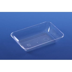 Clear Short Rectangular Plate (24pk)