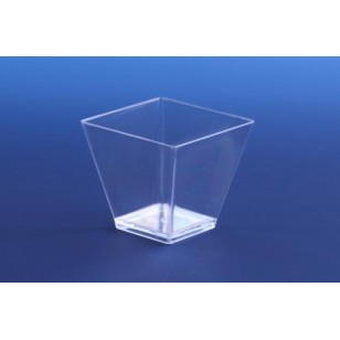 Clear Square 2oz Pot (12pk)