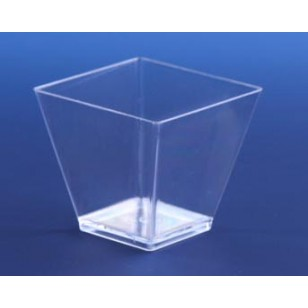 Clear Square 4oz Pot (12pk)