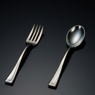 Mini Silver Metallic Look Fork (24pk)