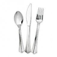 Silver Metallic Look Forks (12pk)