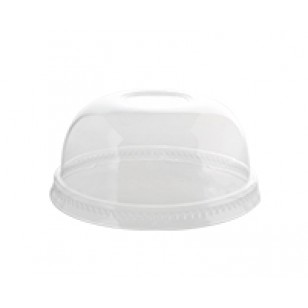 8-10 oz Dome Lid With Hole (100pk)