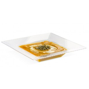 Clear Square Hexagon Design Bowl 12oz (10pk)