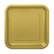 Gold Square 7in Plate (16pk)
