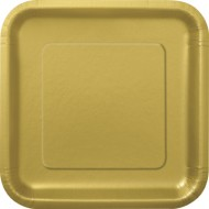 Gold Square 9in Plates (14pk)