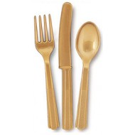 Assorted  cutlery gold 24pk